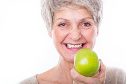 Partial dentures for chewing hard foods