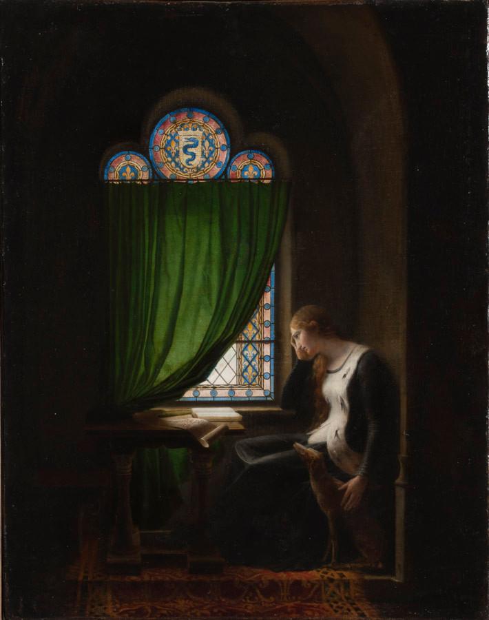 Fleury Richard : Valentine de Milan pleurant... 1802 St-Petersbourg, Ermitage