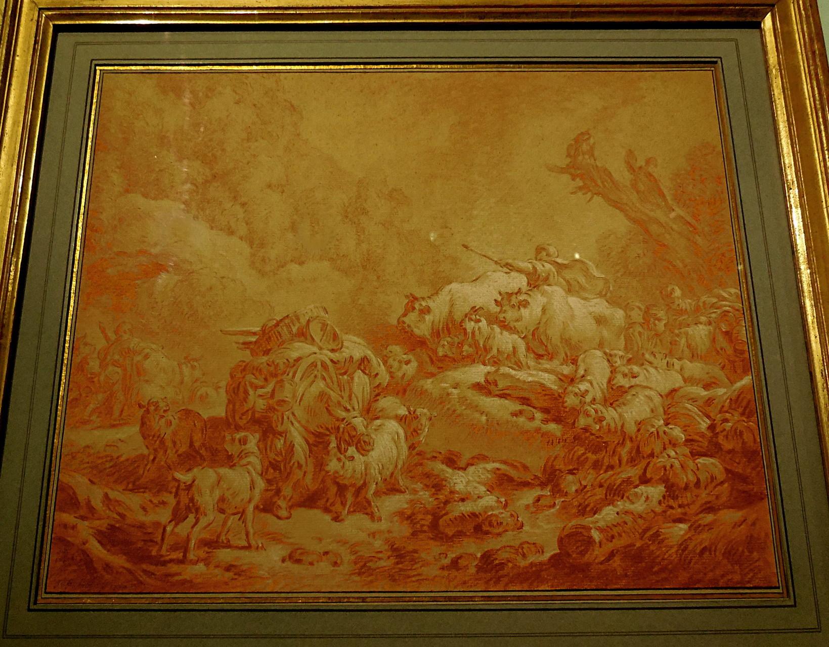 Huet J-B, La rencontre des troupeaux, 1770, Coll privée / Photo JH