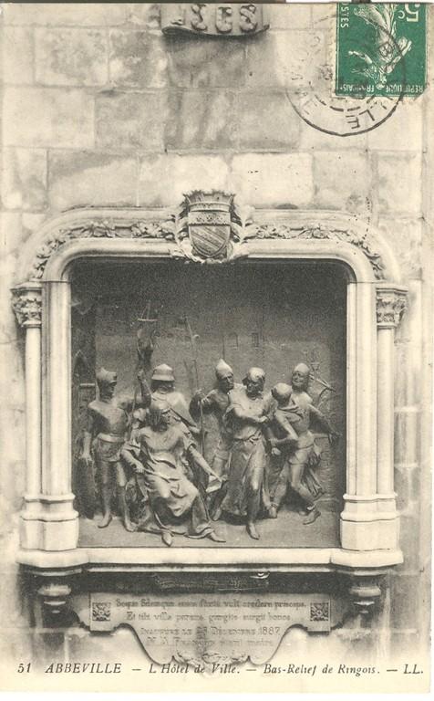 Emmanuel Fontaine, La mort d'Enguerrand Ringois, 1887 (relief en bronze), collection particulière