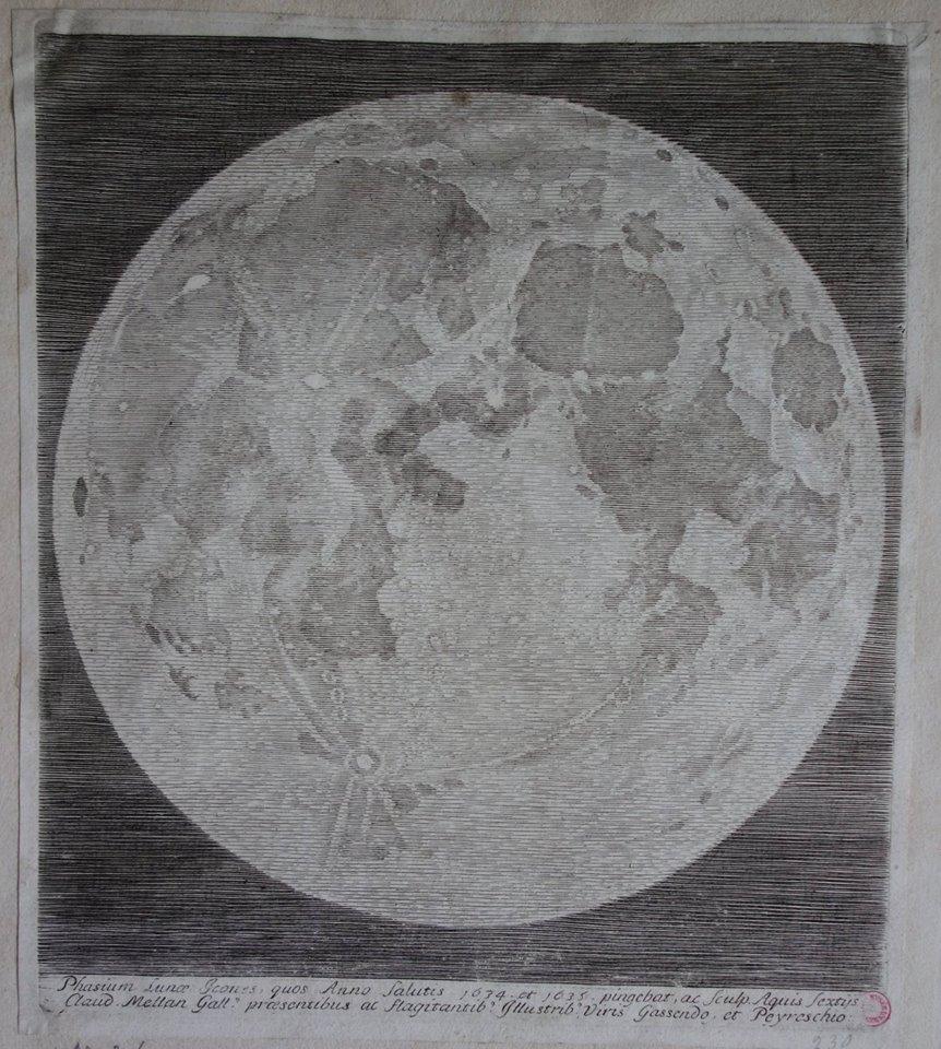 Claude Mellan, Face de la lune 2 / Photo Agathe Jagerschmidt, Facebook Musée d'Abbeville