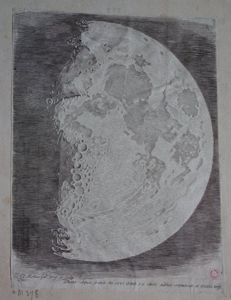 Claude Mellan, Face de la lune 1 / Photo Agathe Jagerschmidt, Facebook Musée d'Abbeville