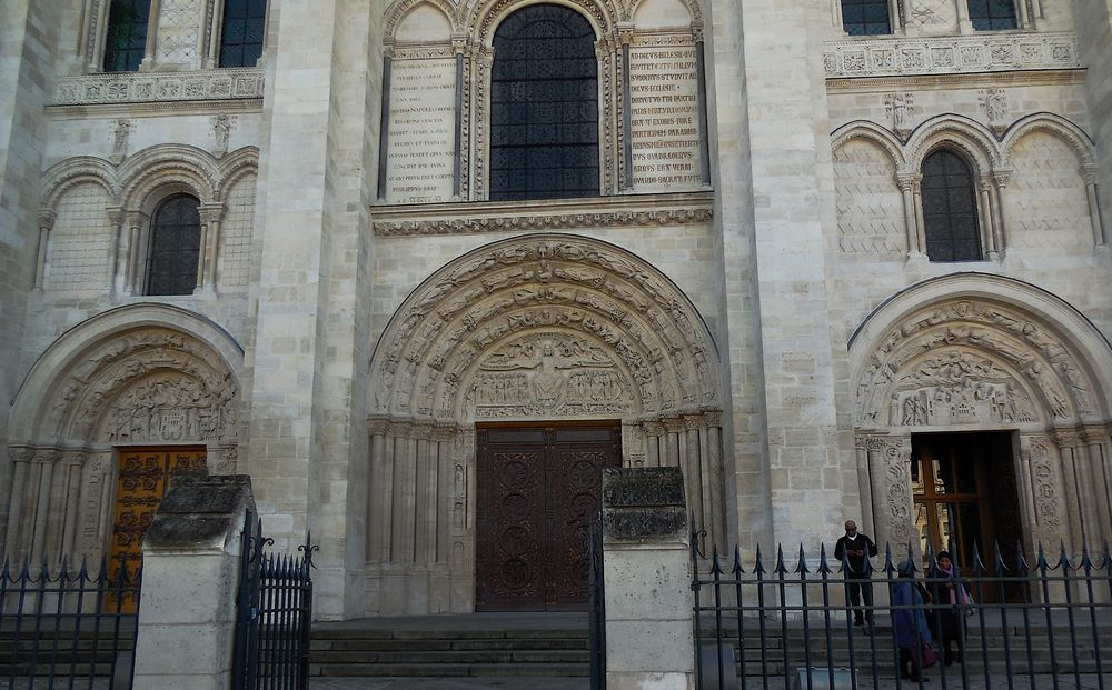 Saint-Denis, basilique, les 3 portails