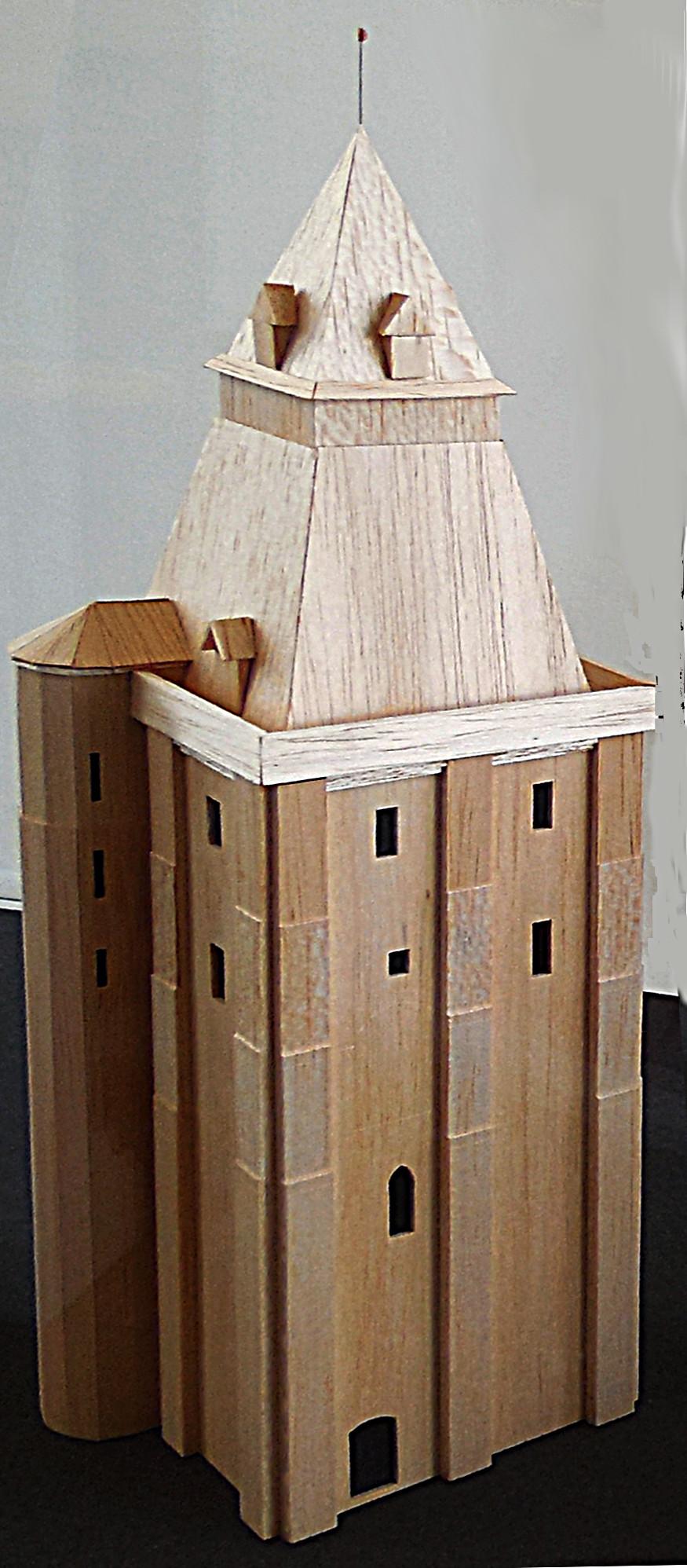 Maquette du beffroi, François et Flore Vasselle, c. 1980