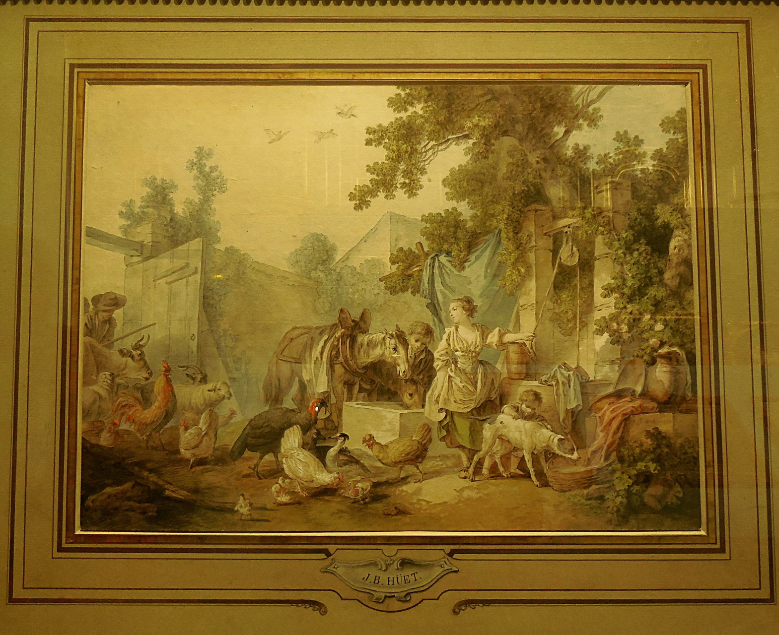 Huet J-B, Cour de ferme, 1782, Coll privée / Photo JH