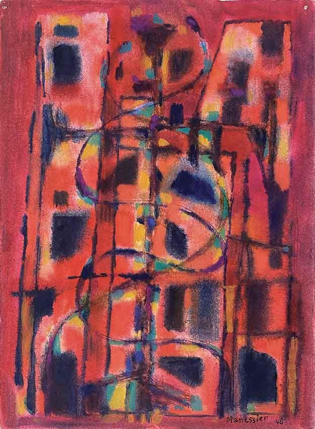 Composition, 1948, aquarelle