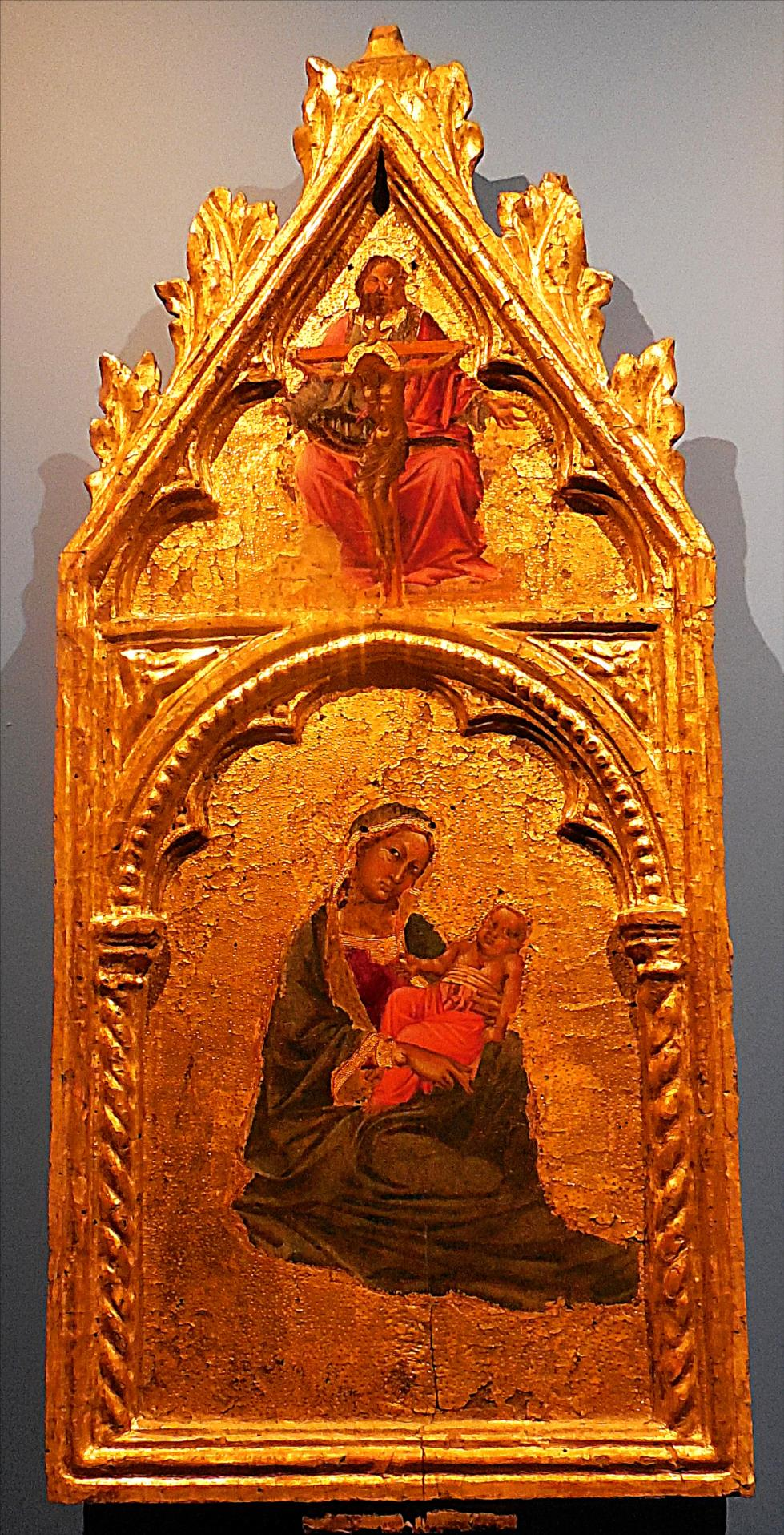 Angelo Puccinelli, La Vierge d'humilité vers 1375- 1380, Sienne / Abbaye de Chaalis