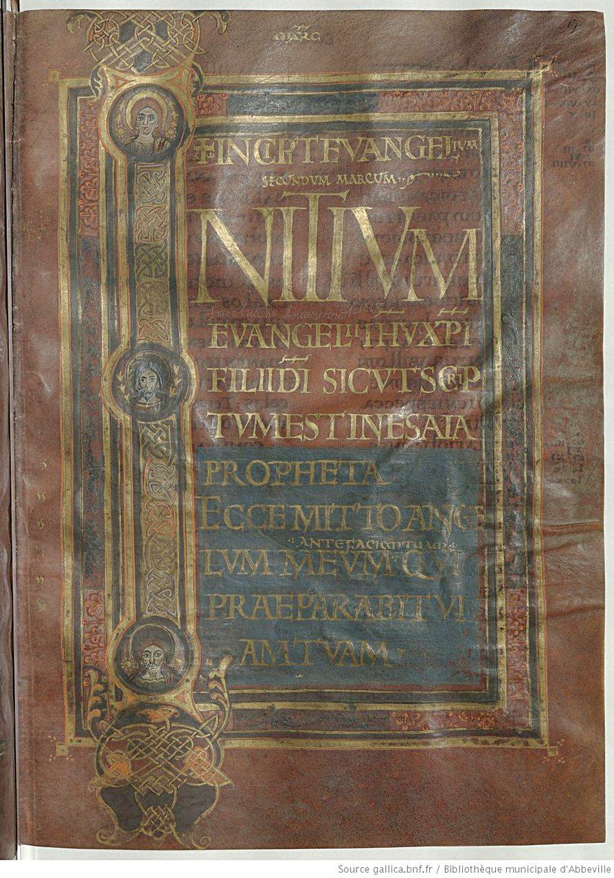 Incipit de l'évangile selon St Marc f.r