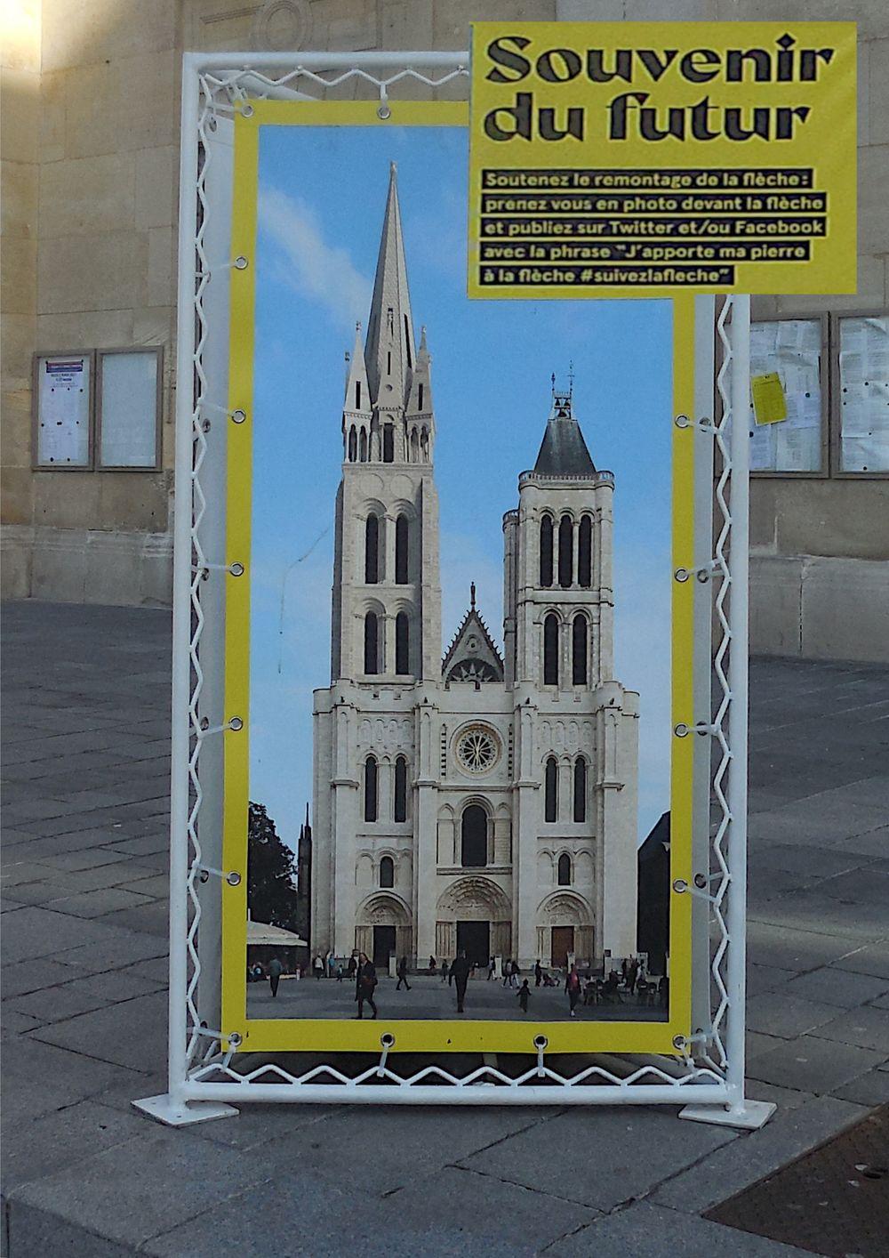 Affiche pour la reconstruction de la tour
