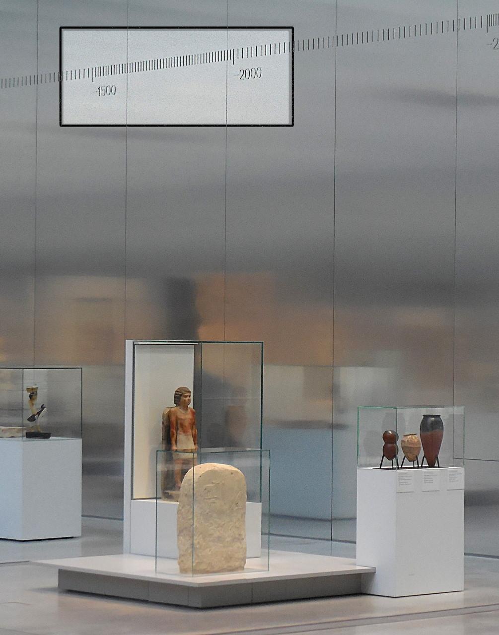 Louvre-Lens, Galerie du temps, détail de la frise chronologique