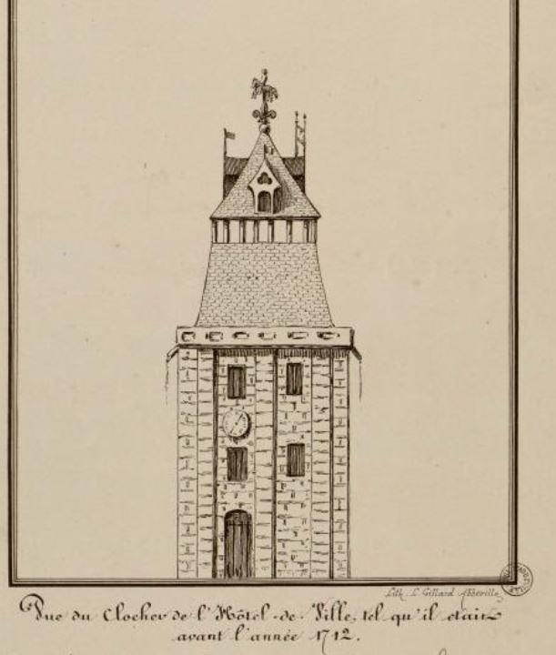 Beffroi, toiture avant 1712