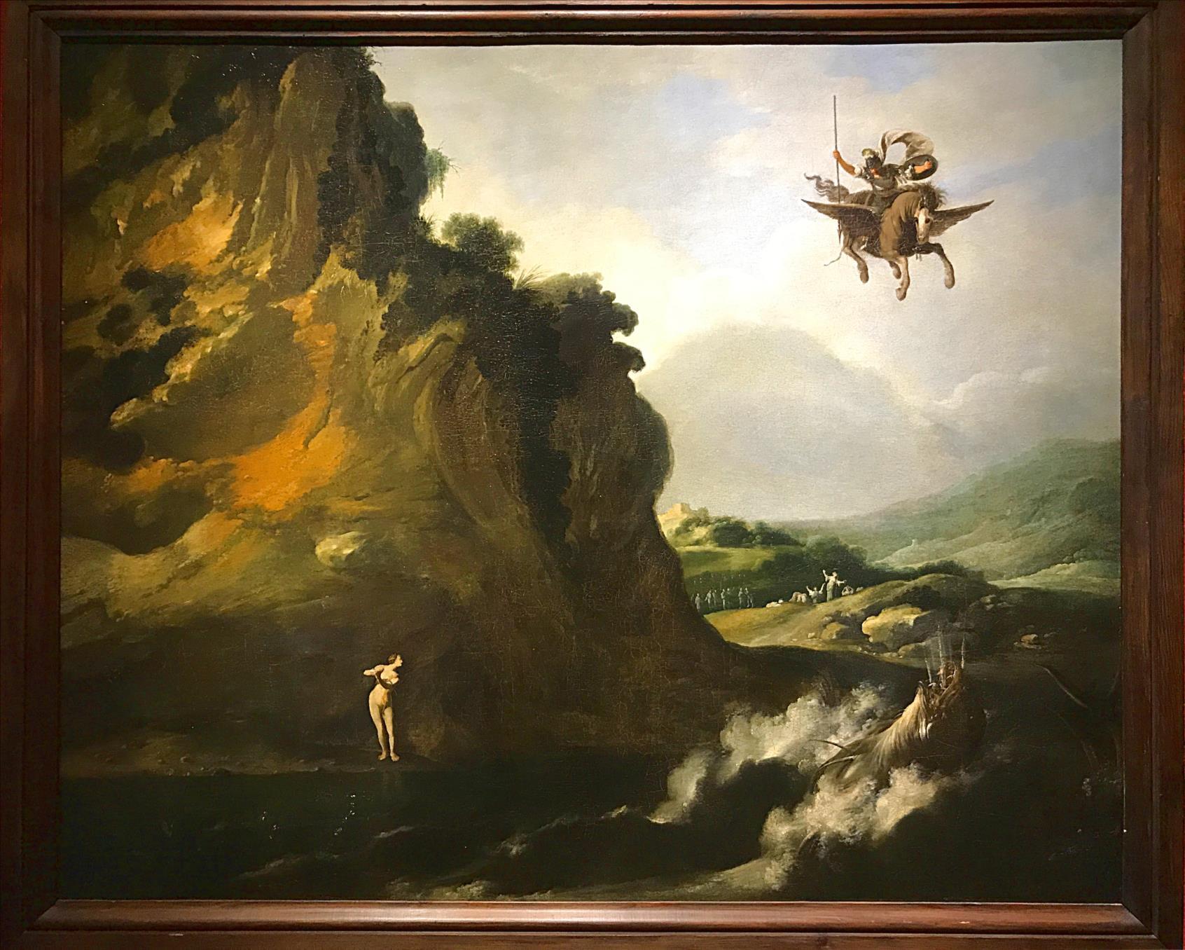 Filippo Napoletano (1590-1629) Roger et Angélique ou Persée et Andromède, 1620-1629, Huile sur toile / La Fère, Musée Jeanne d'Aboville