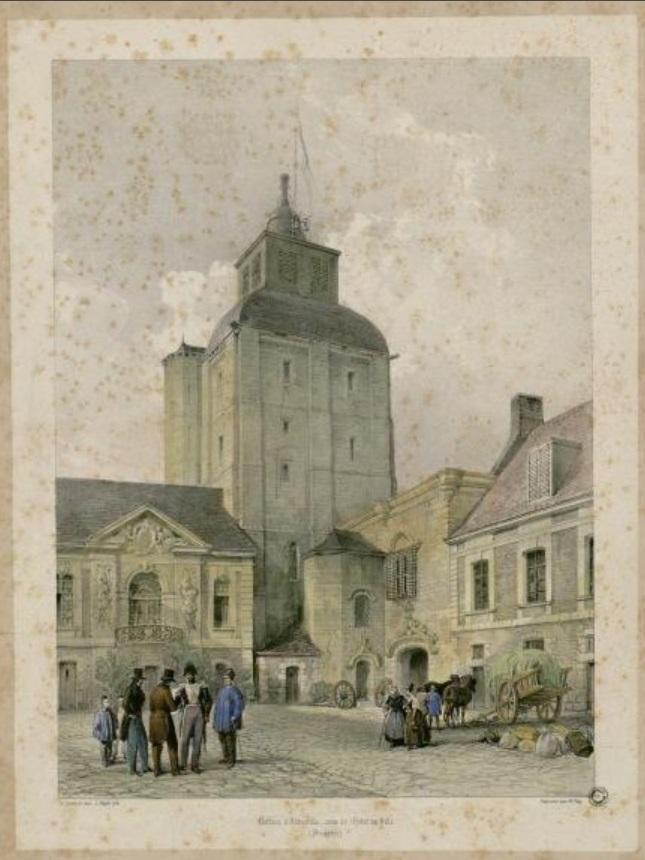 Beffroi, lithographie d'après Aimé Duthoit, XIXe siècle
