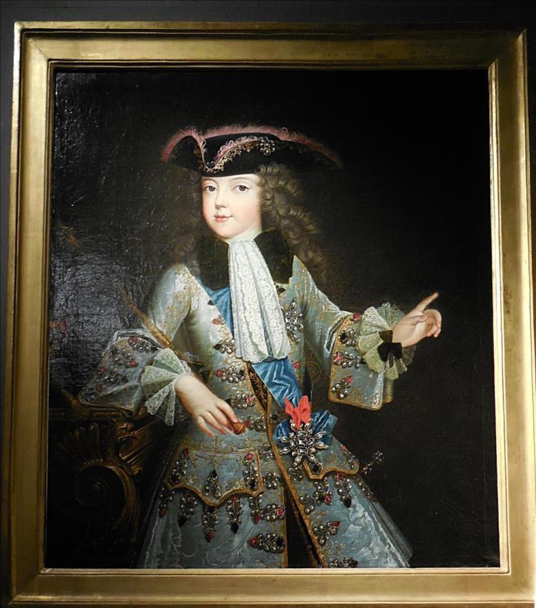 Louis XV enfant, Augustin Oudart Justinat, vers 1717