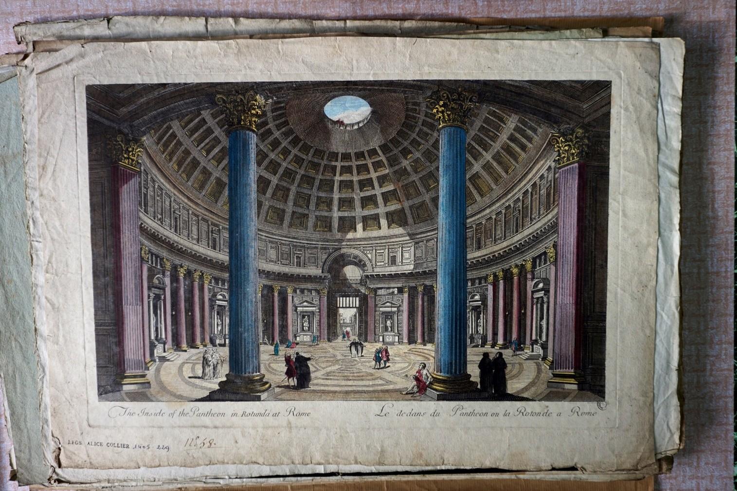 Rome, le Panthéon, vue intérieure