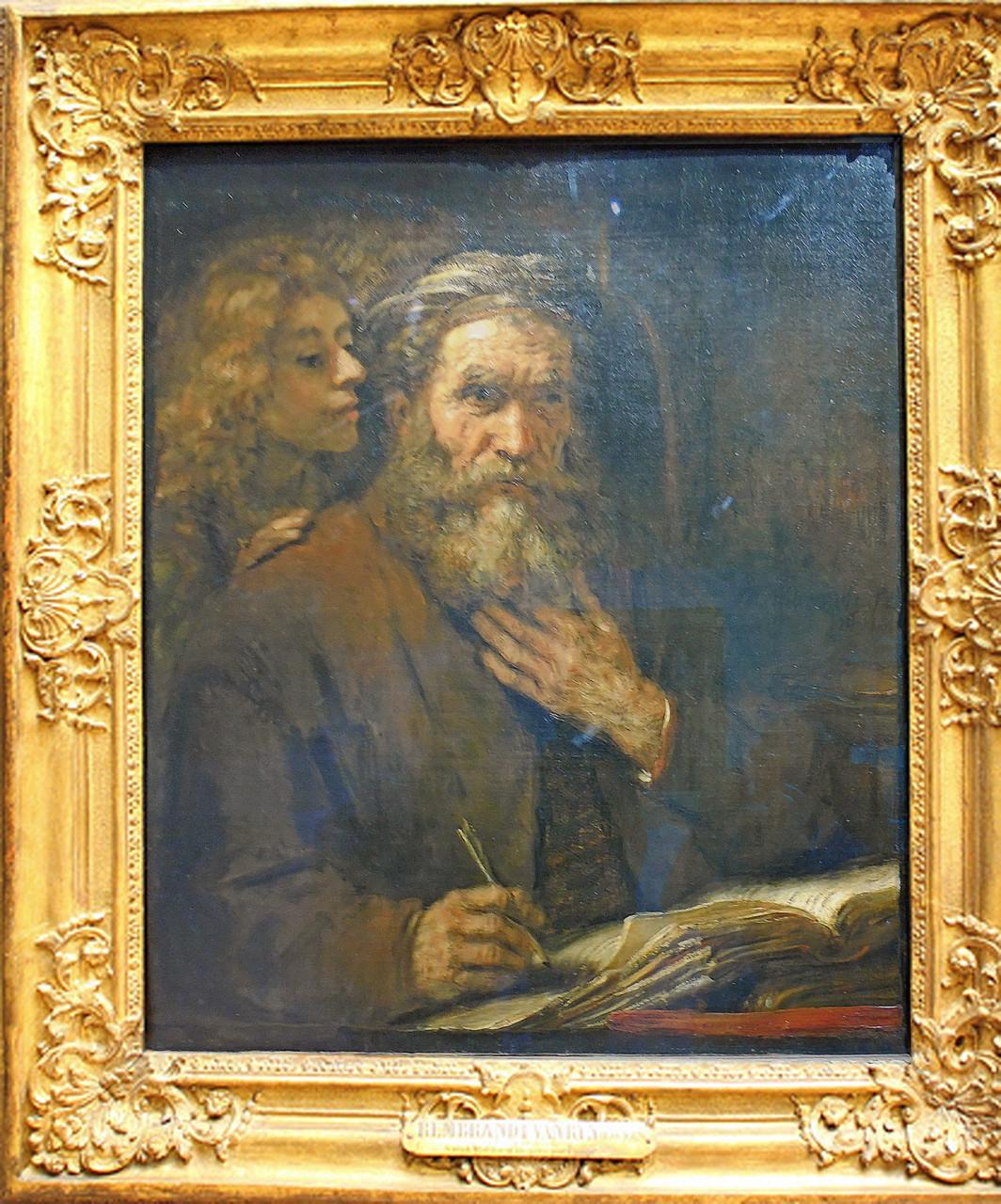 1661, Rembrandt, Saint Matthieu et l'ange