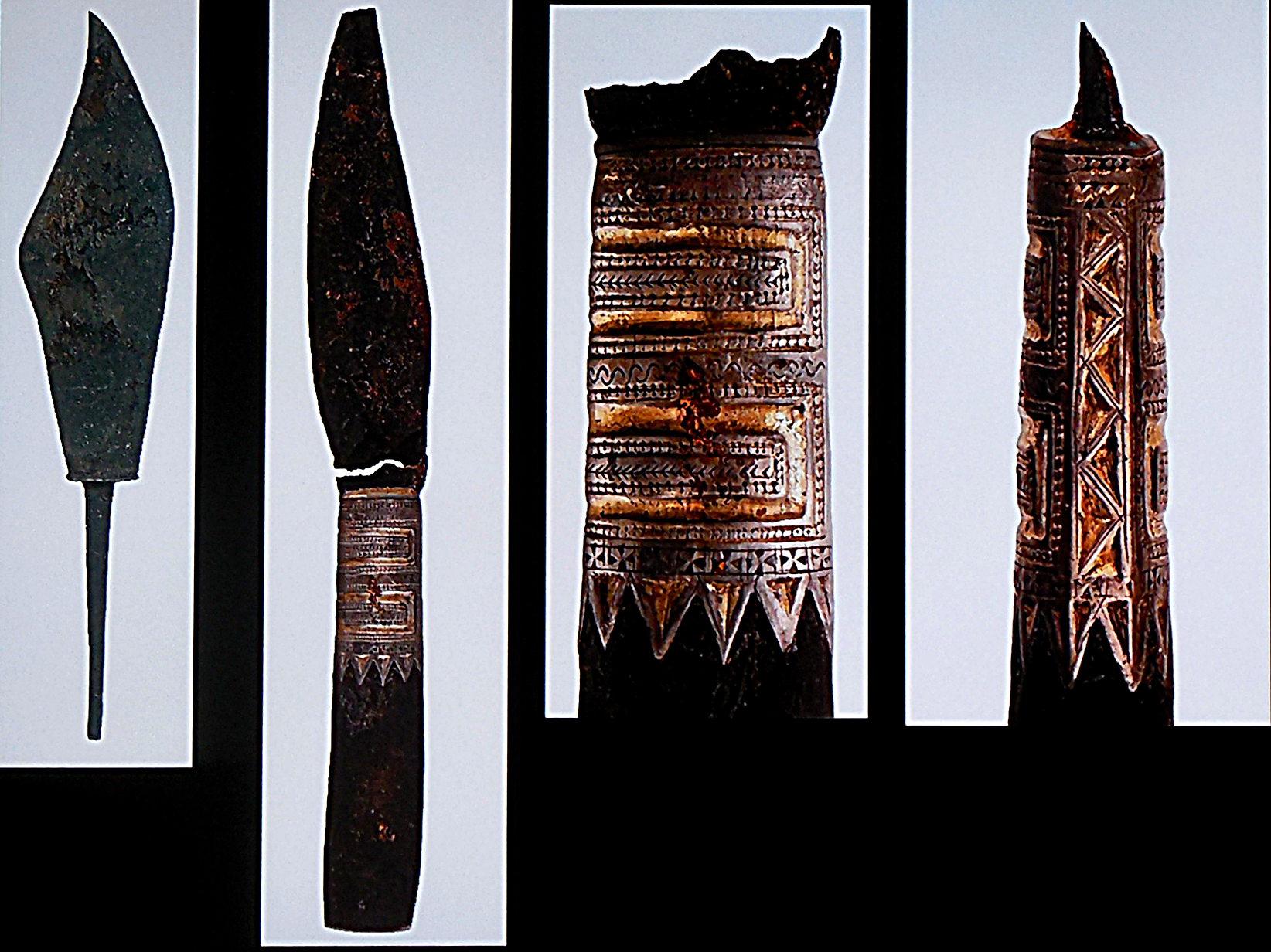 Couteaux et manche orné