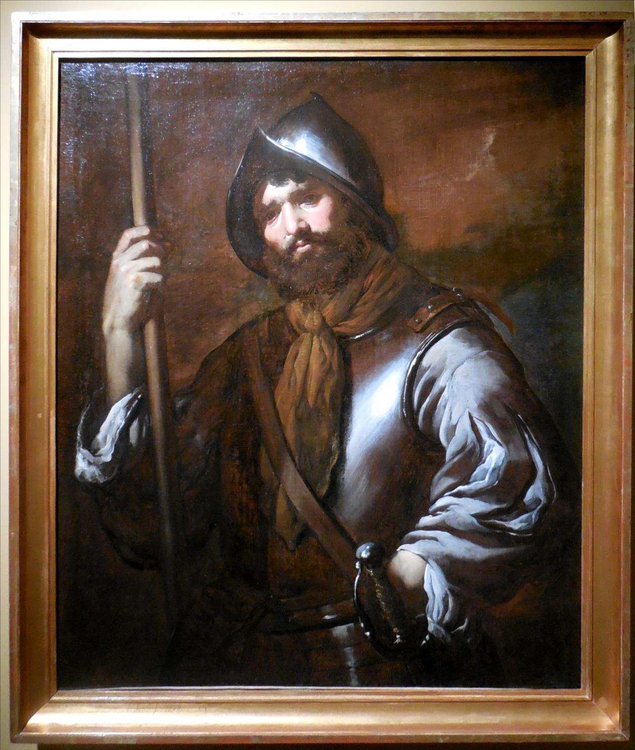 Soldat tenant une pique, anonyme, vers 1640 / Musée de compiègen