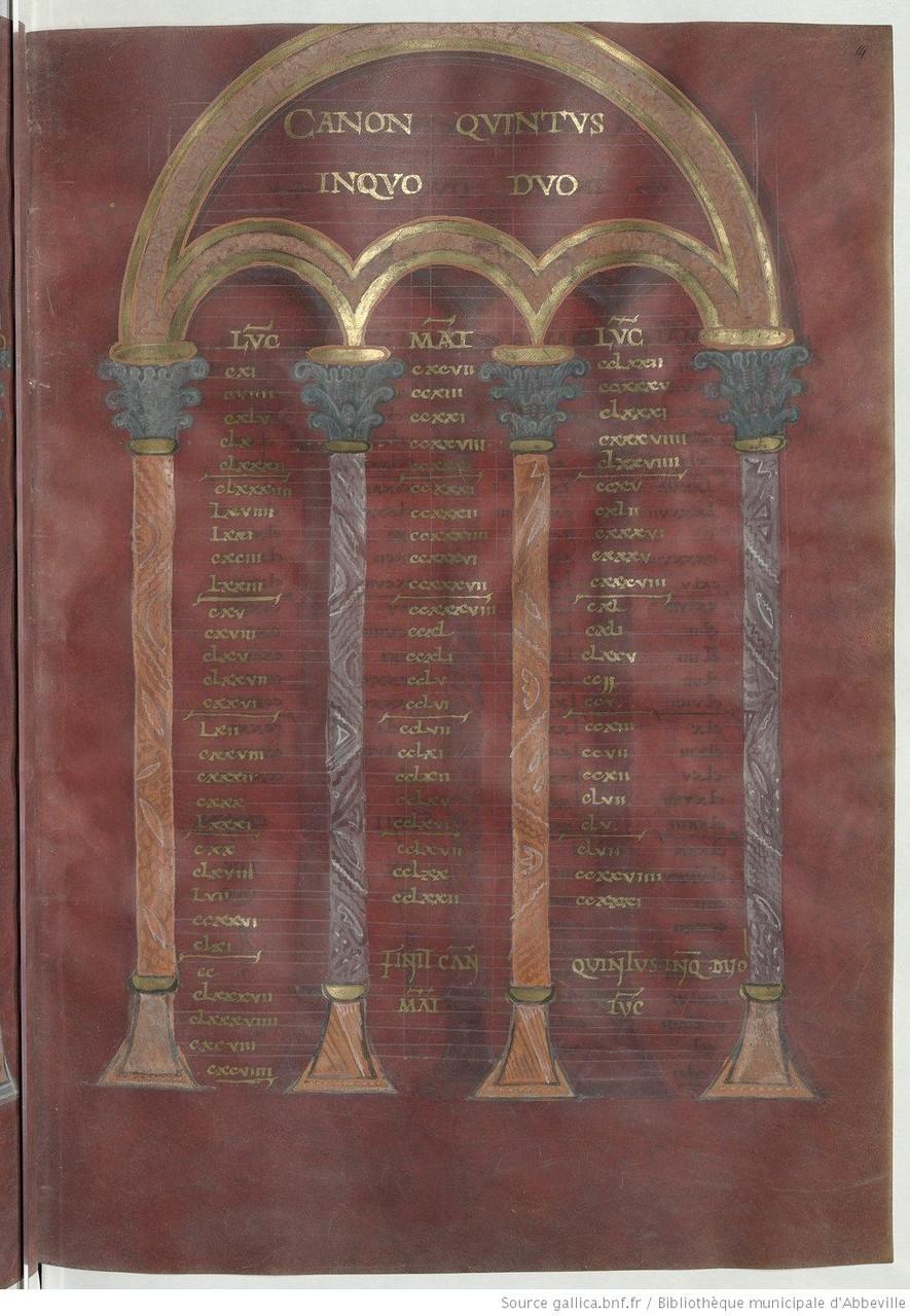 Canon Quintus, f 14r