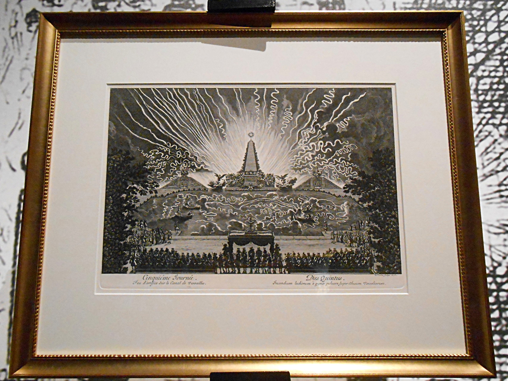 Evocation des Illuminations du parc de Versailles lors de fêtes royales