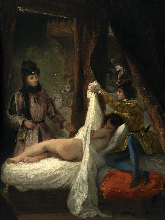 Delacroix Eugène : Louis d'Orléans montrant sa maîtresse, 1825, Madrid