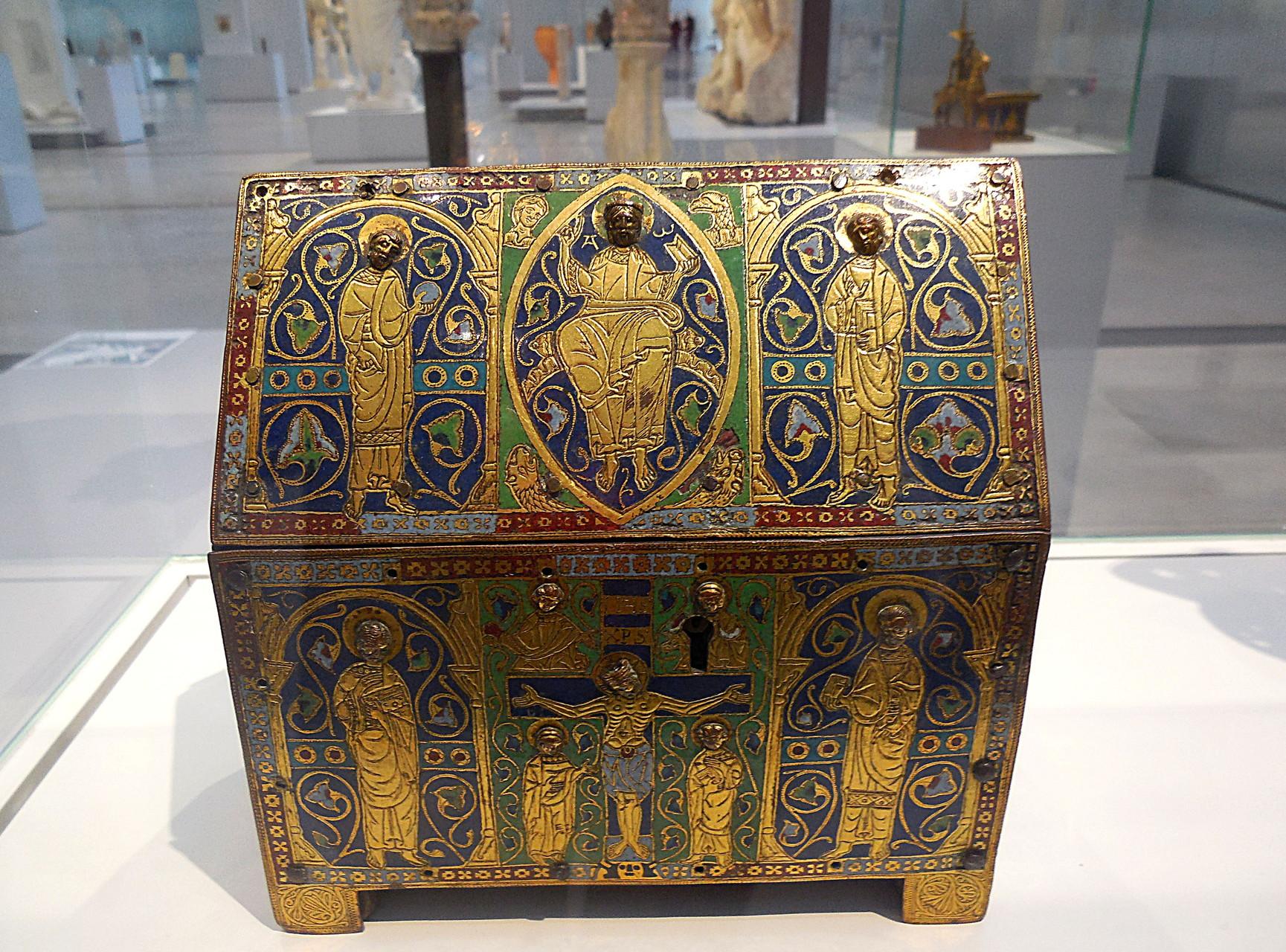 1185 / 1200, France, Limoges, Reliquaire (châsse) en forme d'église
