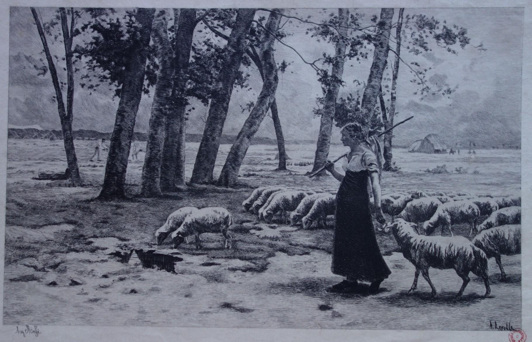 Augustin-Pierre MASSÉ D'après Henry LEROLLE Dans la campagne / Photo musée