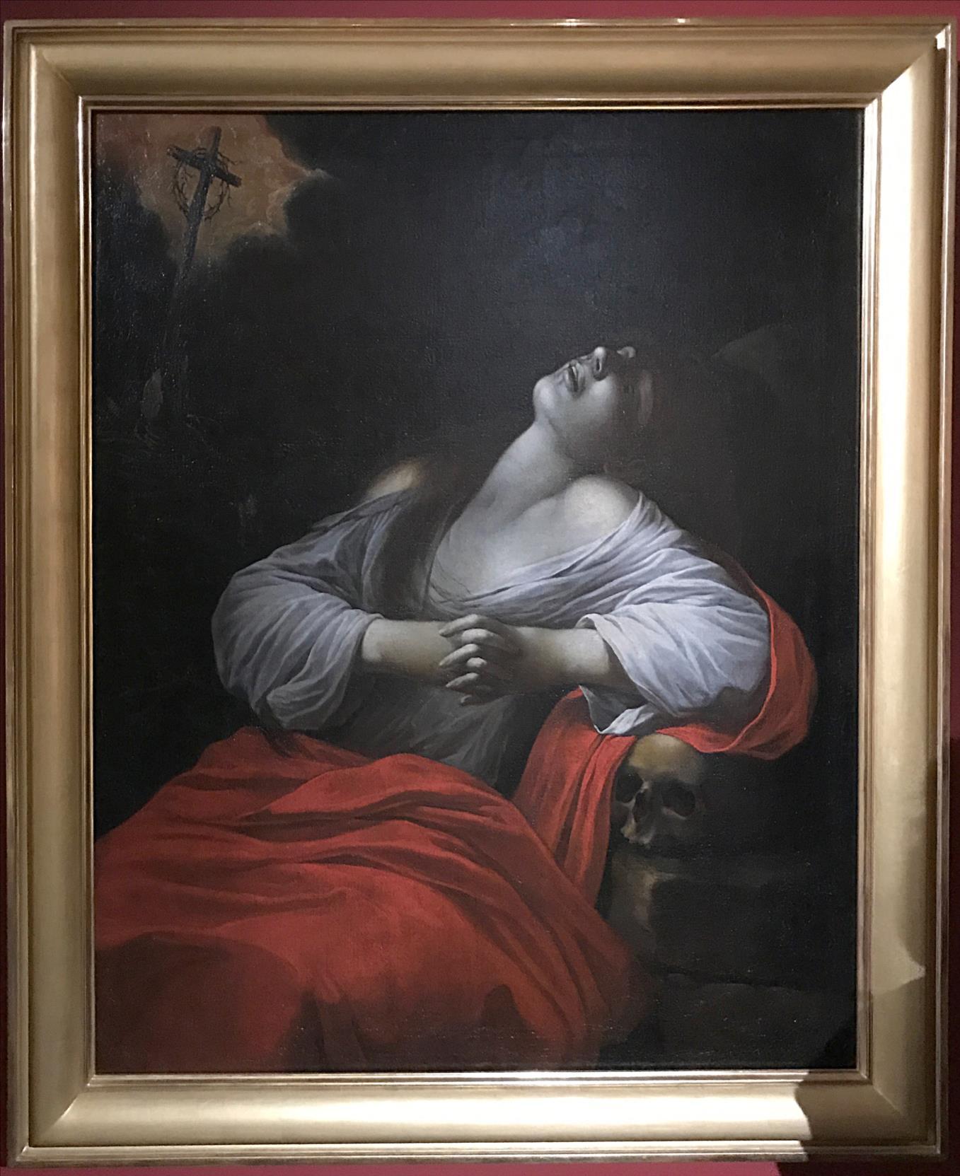 La Madeleine en extase, anonyme d'après le Caravage, 1610 / Musée de Senlis