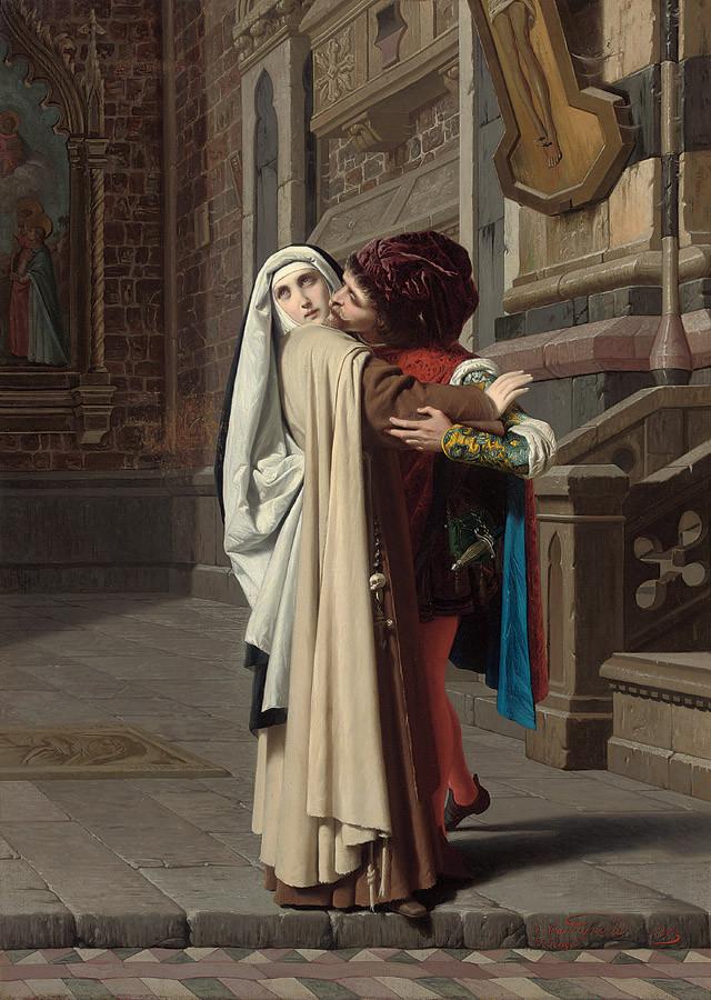 Castagnola Gabriele : Filipo Lipi et Lucrezia Buti, 1871, coll. particulière
