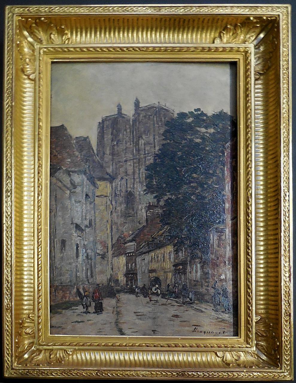 Braquaval Louis (1854-1919) Abbeville, Grande rue Notre-Dame / Musée Boucher-de-Perthes, Abbeville / photo JH