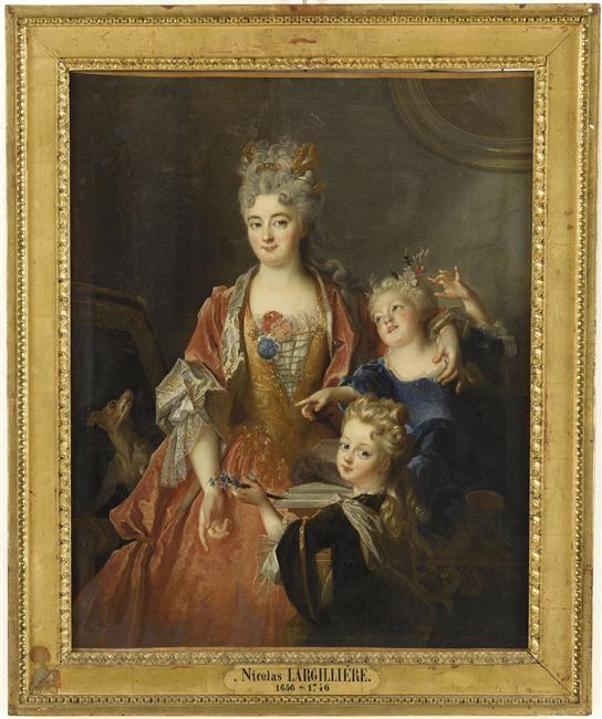 Nicolas de Largillière, Portrait de Mme Jansaud et ses enfants, Musée d'Abbeville, © Bréjat-RMN