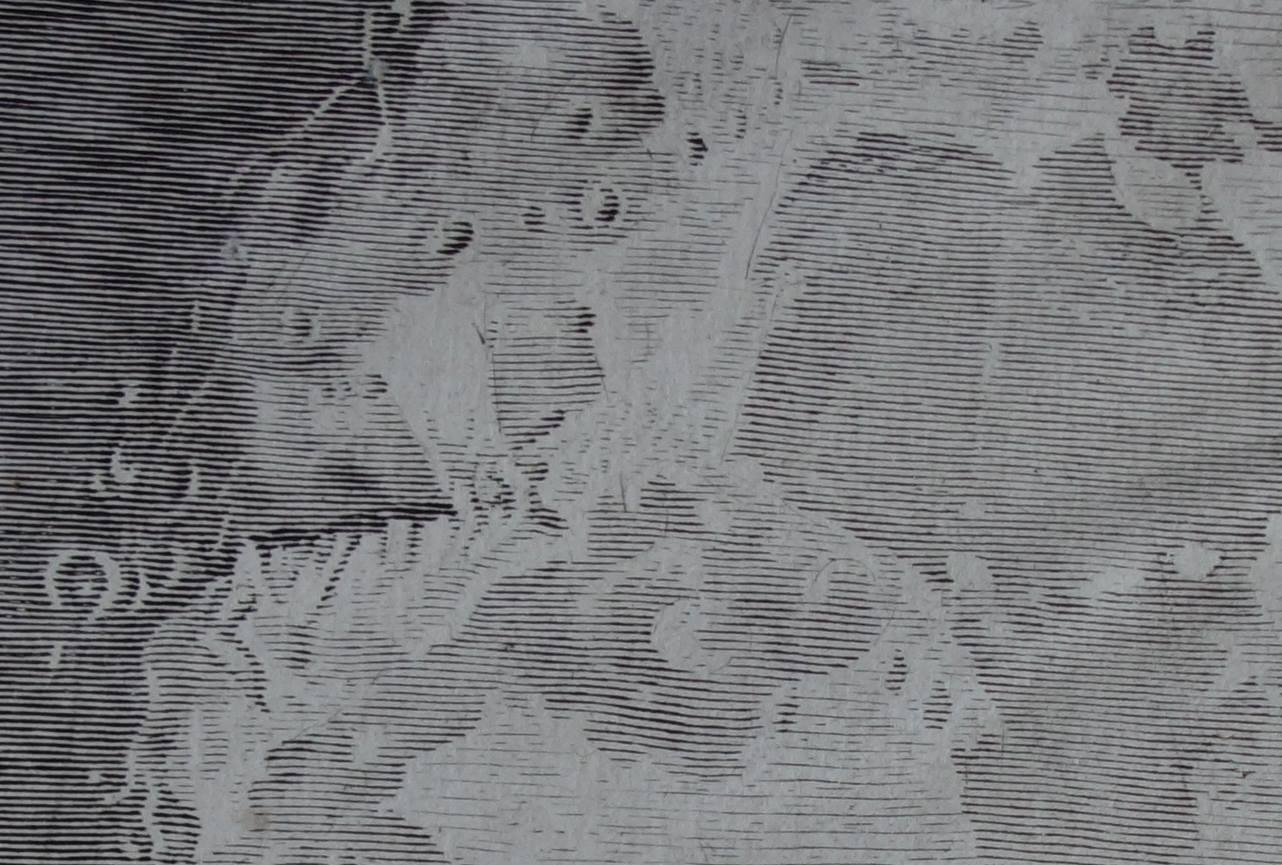 Claude Mellan, Face de la lune 1, détail du relief / Photo Agathe Jagerschmidt, Facebook Musée d'Abbeville