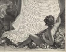Thèse de Colbert de Croissy par Edelinck, détail dont s'est inspiré Emile Rousseaux