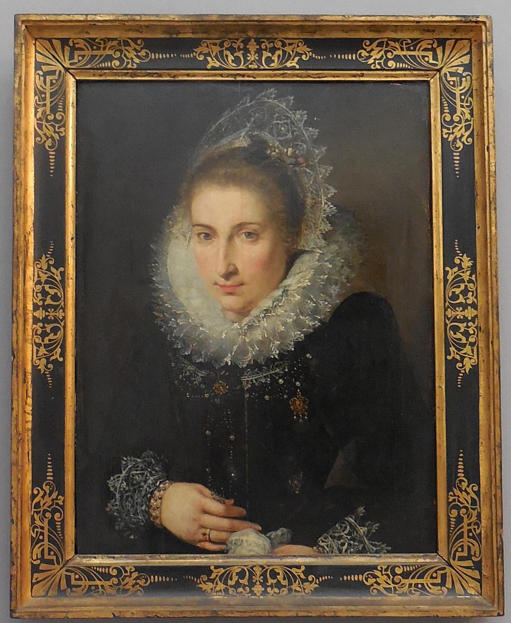 Anonyme, Portrait de femme, école flamande, XVIIe, huile sur toile  / Musée Boucher-de-Perthes, Abbeville / photo JH