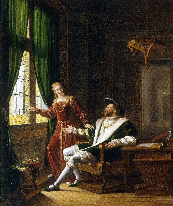 Richard Fleury : François 1er et sa soeur. 1804. Arenenberg