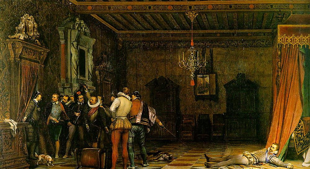 Delaroche Paul : Assassinat du Duc de Guise, 1834, Chantilly