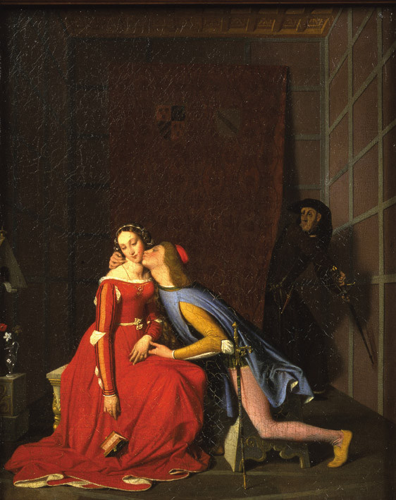 Ingres Dominique : Paolo et Francesca. 1819, MBA Angers
