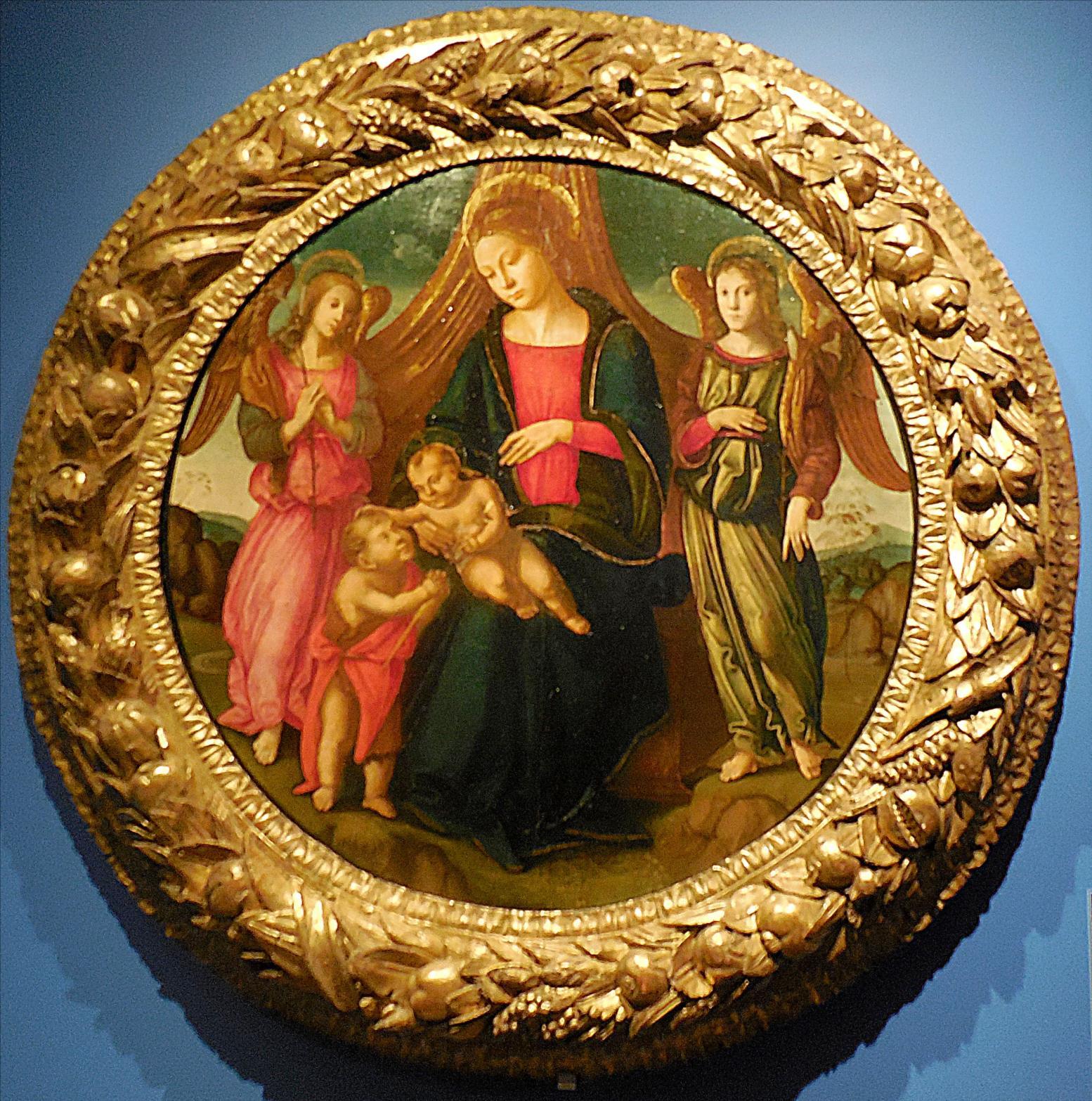 Pseudo Granacci (actif vers 1490-1525), Florence, La Vierge et l'Enfant avec le petit Saint Jean-Baptiste et deux anges / Abbaye de Chaalis