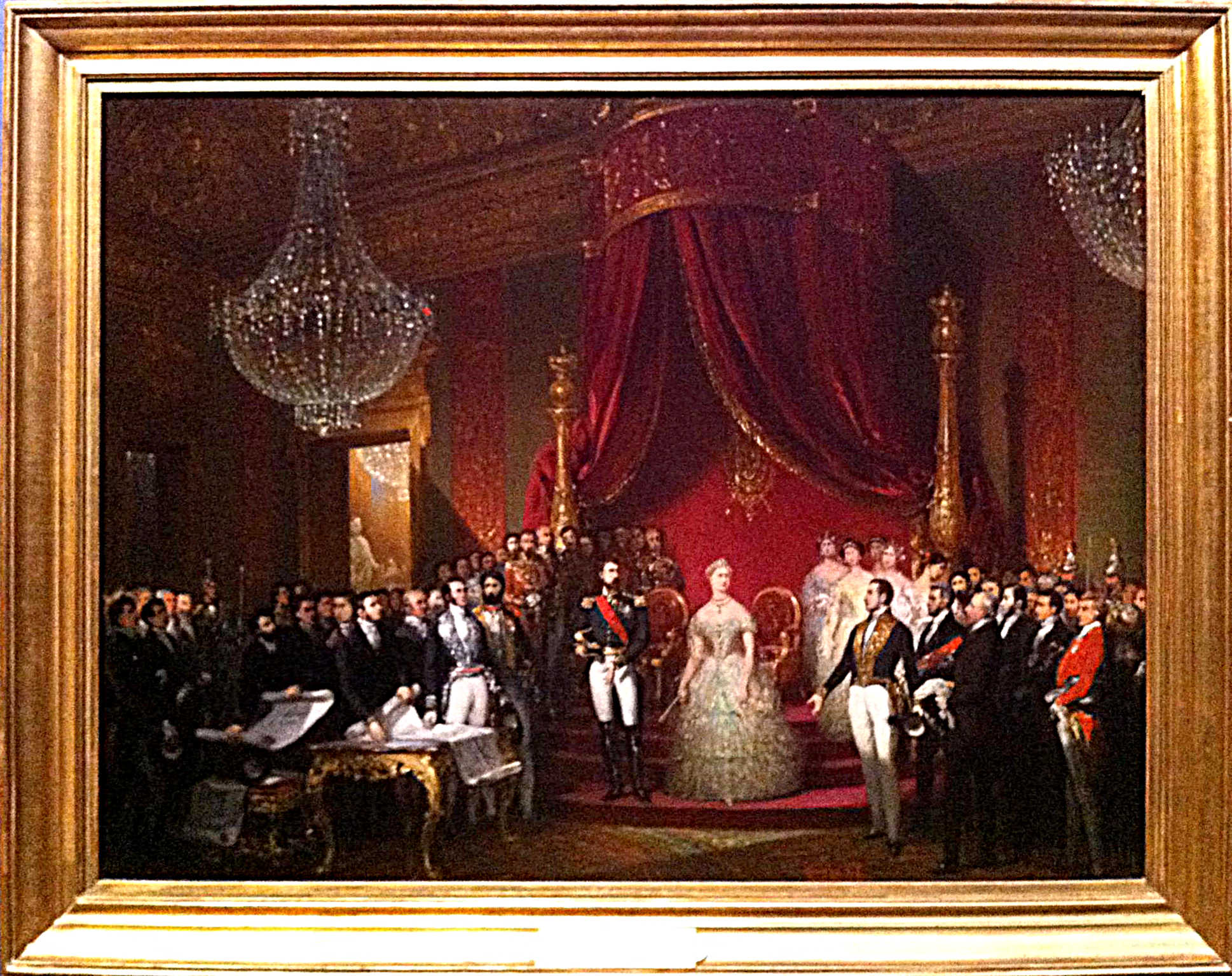 """Court Joseph-Désiré, étude pour """"La commission du Musée Napoléon présente à leurs Majesté... les plans du musée"""", 1863"""