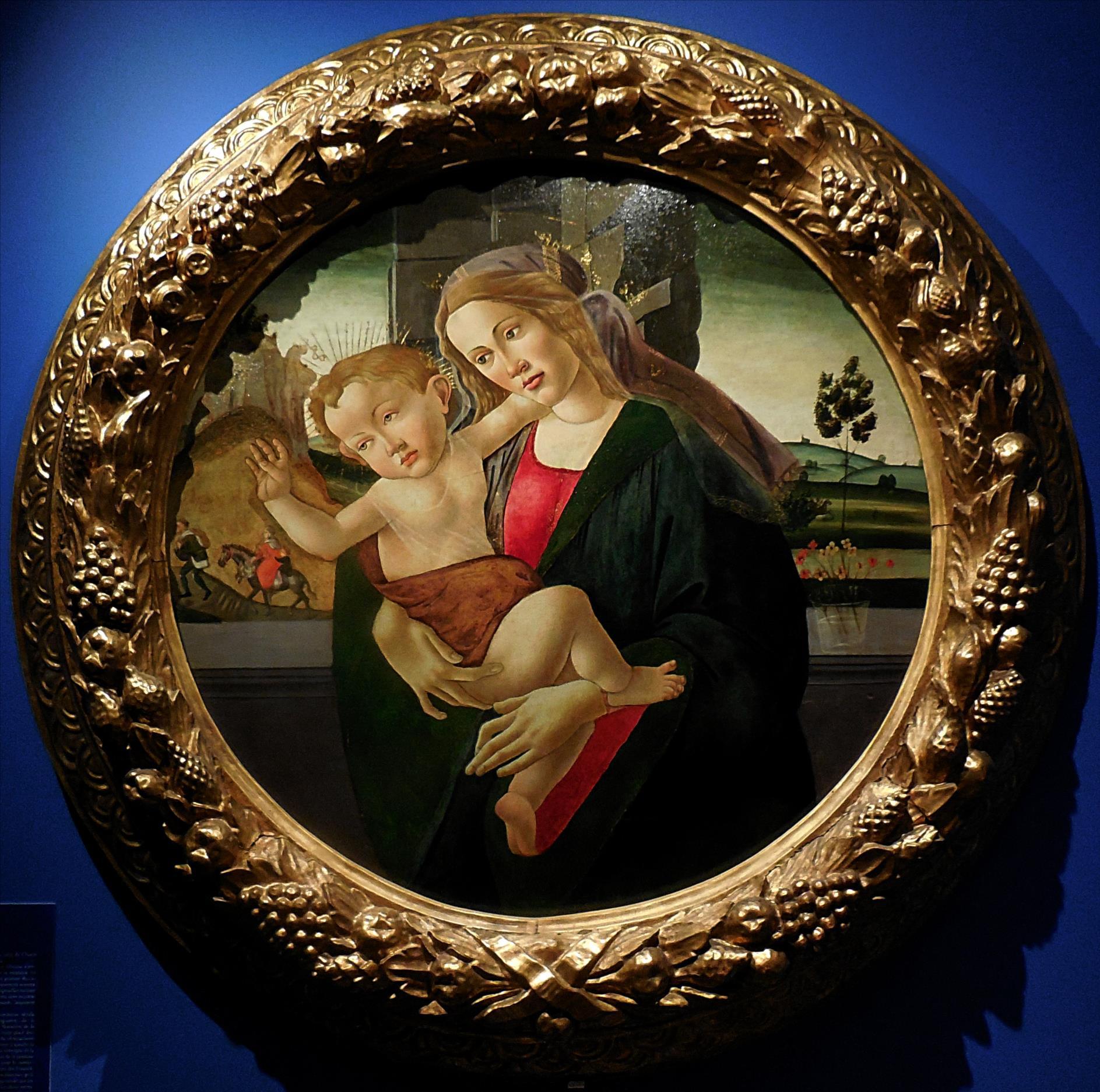 Sandro Boticelli (entourage), Vierge à l'Enfant, Florence, vers 1490 / Abbaye de Chaalis