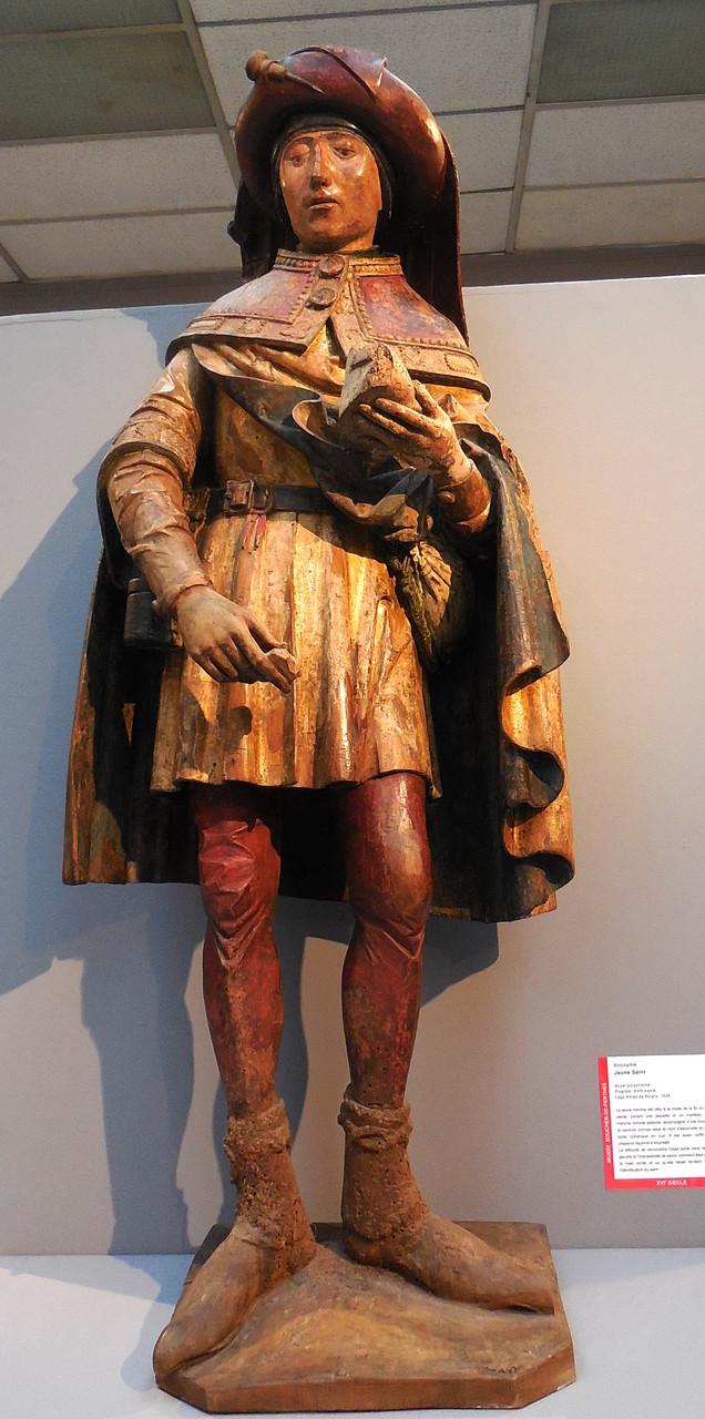 Anonyme, Jeune saint, noyer polychrome, Picardie XVIe s / Musée Boucher-de-Perthes, Abbeville / photo JH