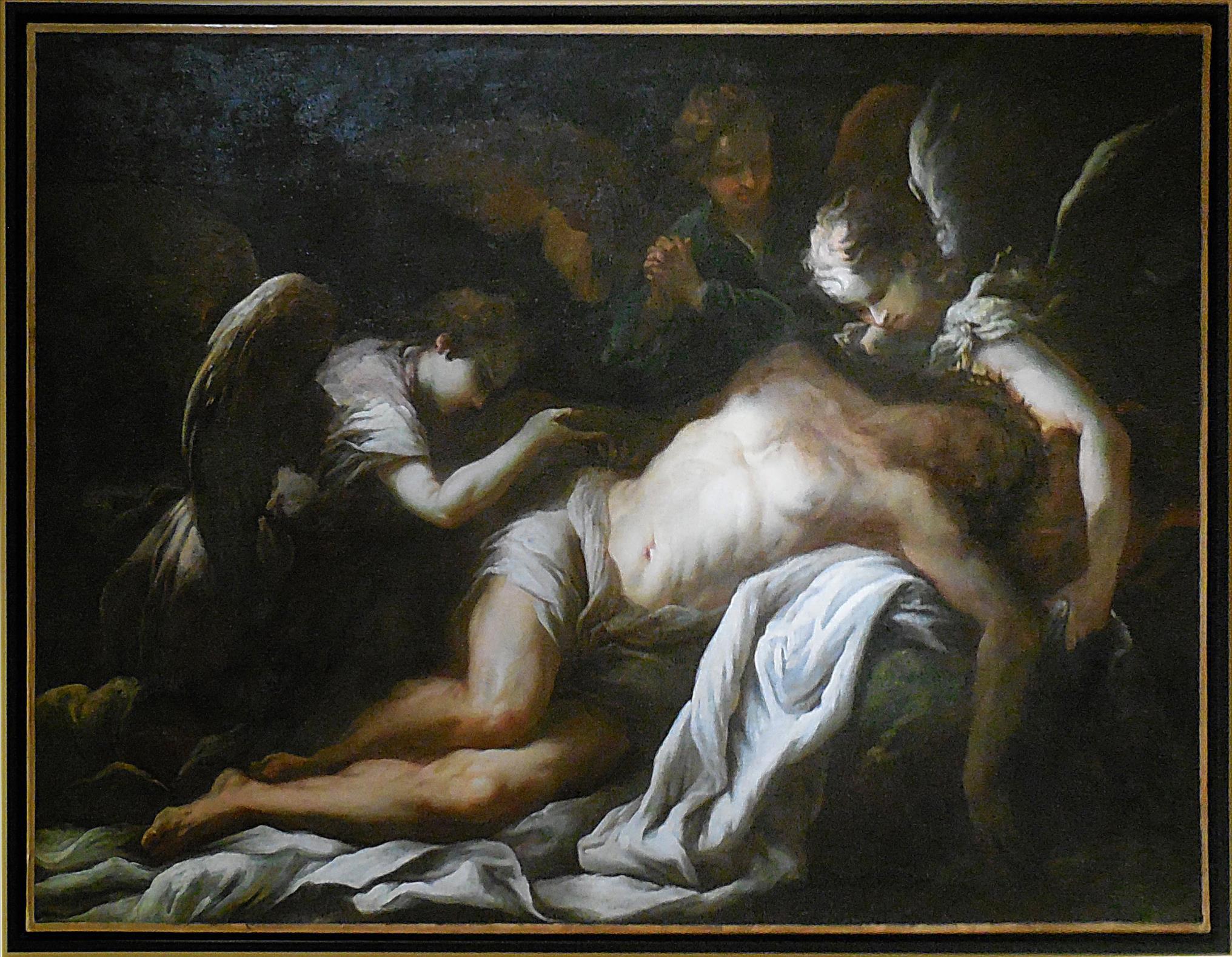 Ricchi Pietro, Le Christ mort déploré par 3 anges, vers 1650 / MUDO