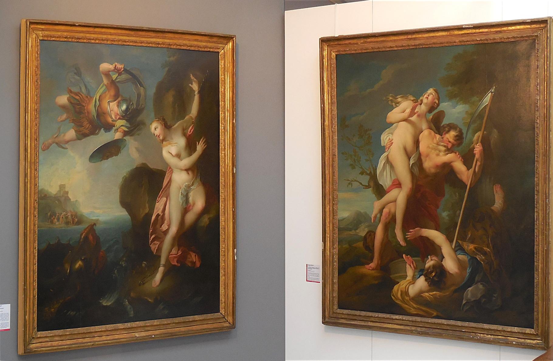 Lemoyne François (1688-1737) Persée délivrant Andromède et Le temps / Musée Boucher-de-Perthes, Abbeville / photo JH