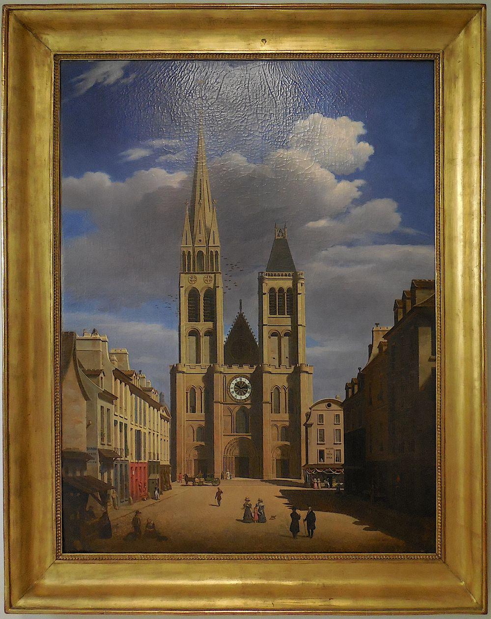 E-J Bouhot (entourage?), La basilique de Saint-Denis vers 1817