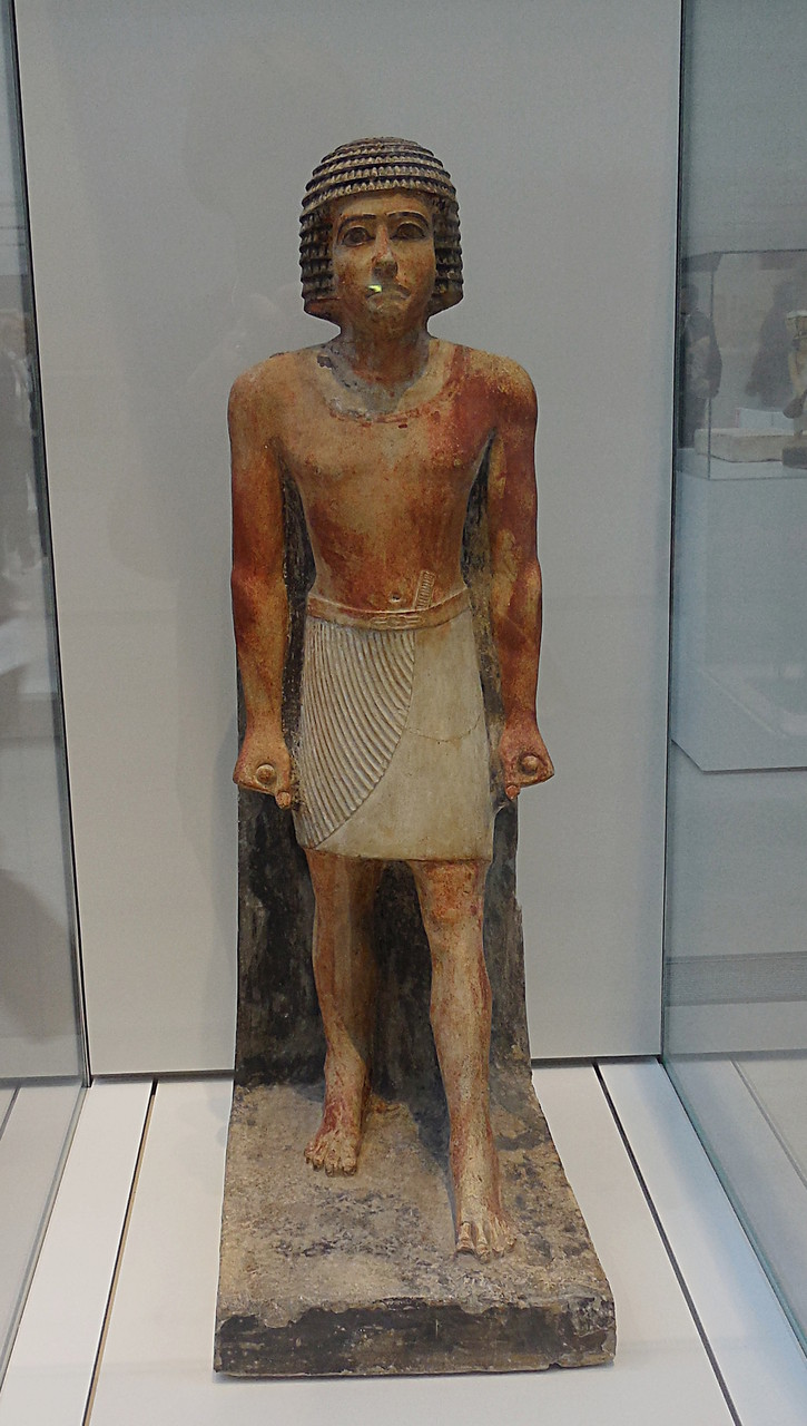 2350 av J.C., Egypte, Homme debout, statue funéraire