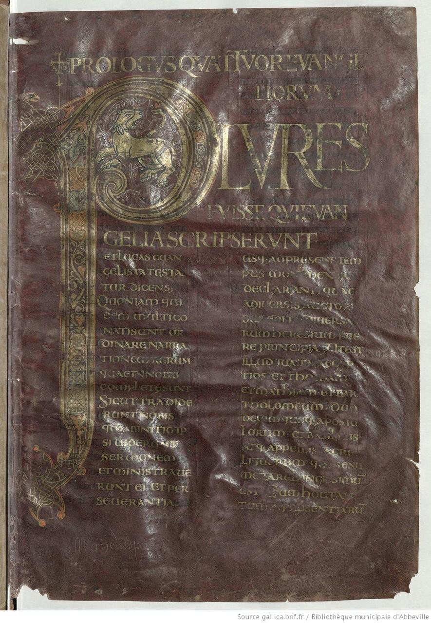 Evangiles de Centula, Prologue, folio 1r