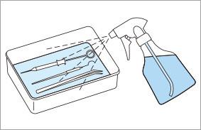 予防洗浄スプレー