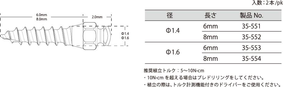 Type-A size