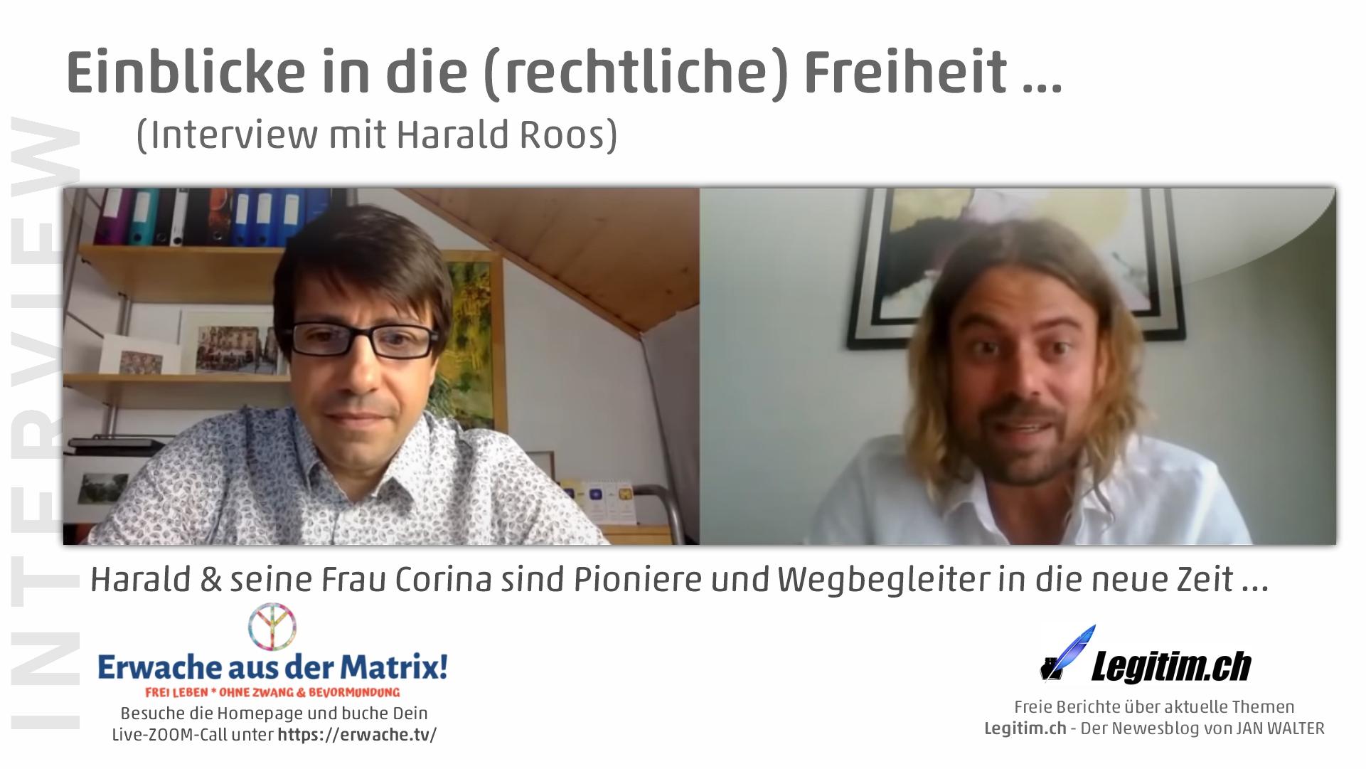 Einblicke in die (rechtliche) Freiheit mit Harald Roos