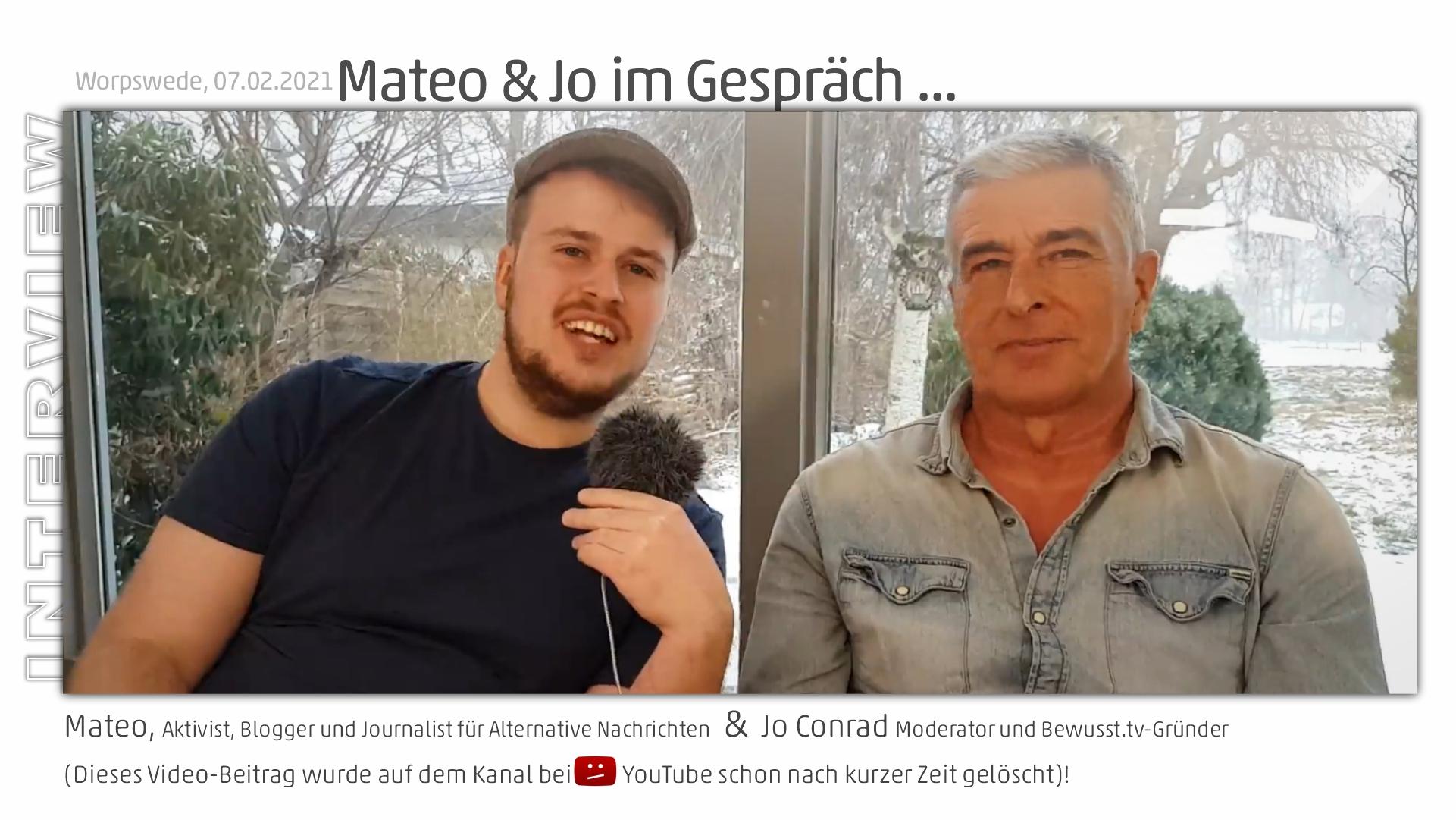 Mateo im Gespräch mit Jo Conrad